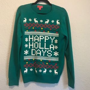 Ugly Christmas Sweater Party Cotton Top